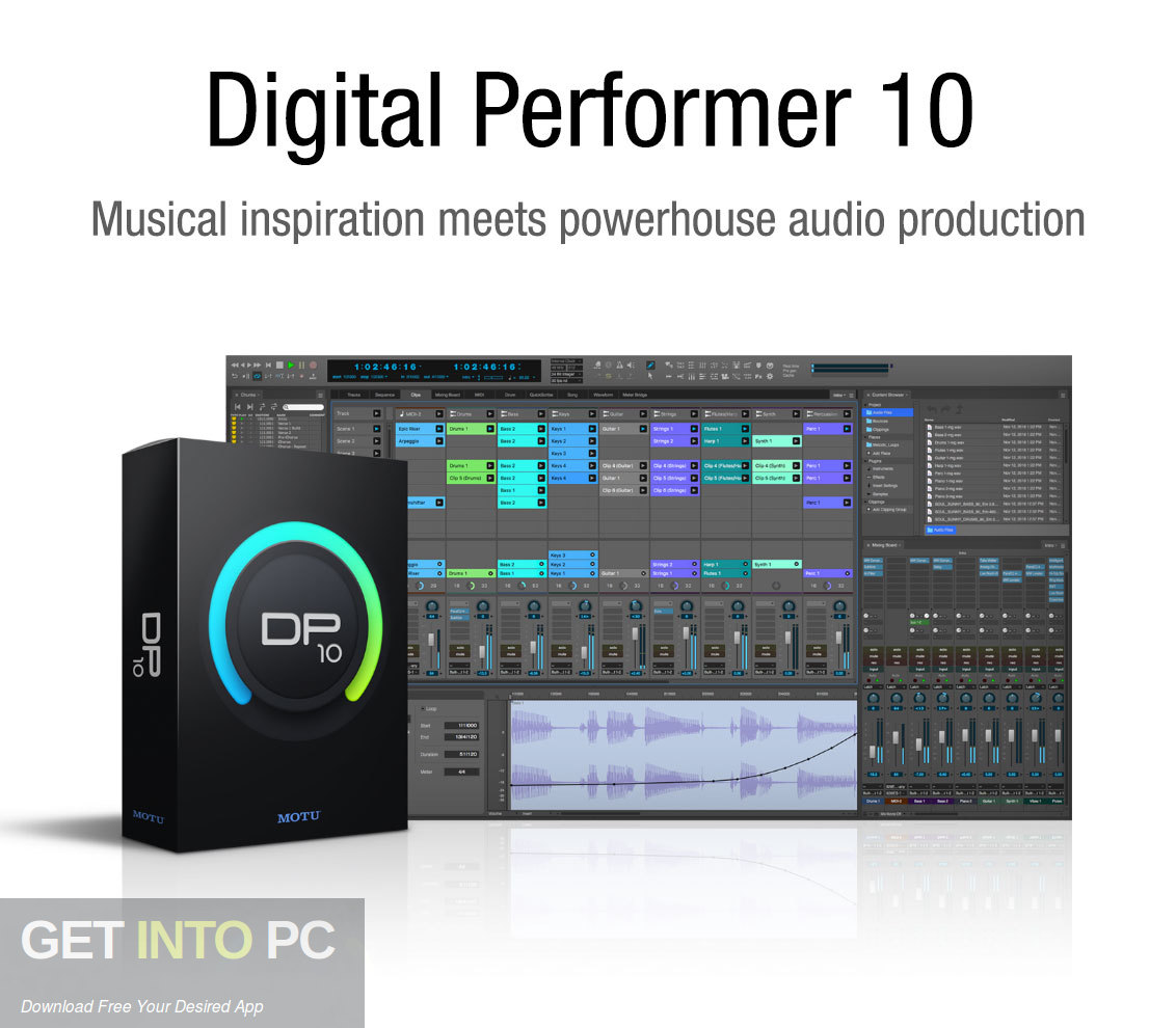 MOTU Digital Performer v10 Free Download-GetintoPC.com
