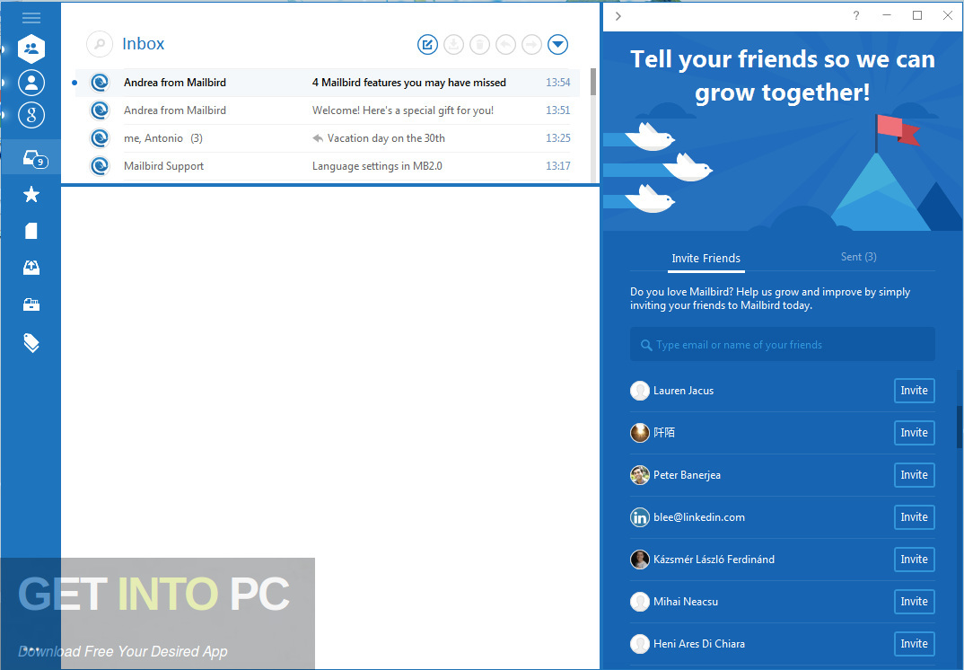 Mailbird Pro 2019 Offline Installer Download-GetintoPC.com