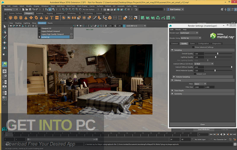 Mental Ray for Maya 2017 Latest Version Download-GetintoPC.com