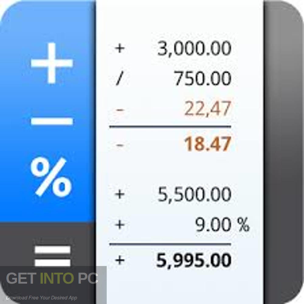 Schoettler CalcTape Pro Calculator Free Download-GetintoPC.com