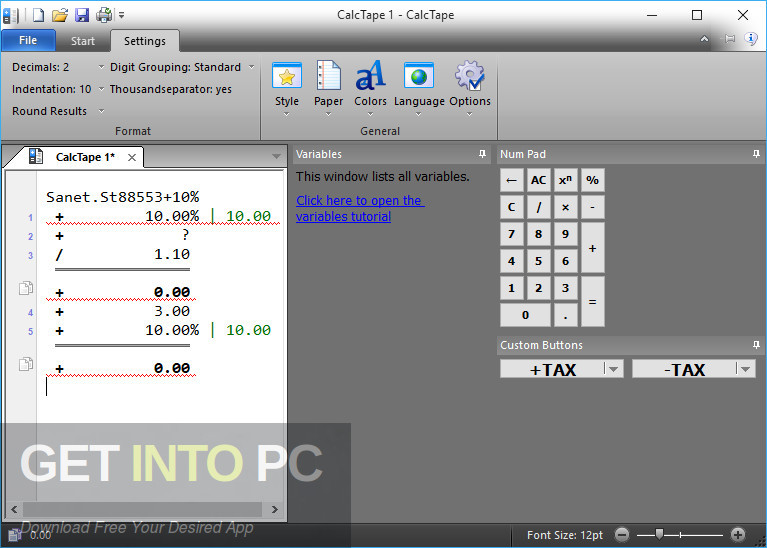 Schoettler CalcTape Pro Calculator Latest Version Download-GetintoPC.com