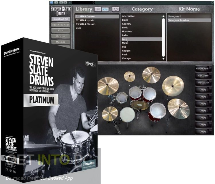 Steven Slate Drums SSD4 Sampler + Library Platinum VST Free Download-GetintoPC.com