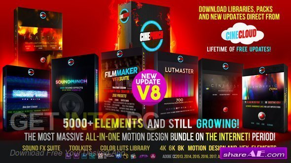 VideoHive CINEPUNCH 7500+ Elements 2018 Direct Link Download-GetintoPC.com