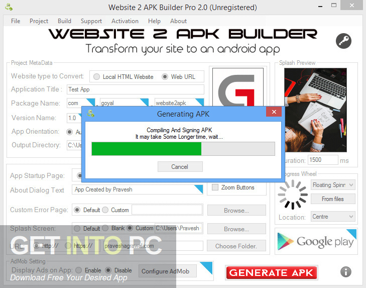Website 2 APK Builder Pro Direct Link Download-GetintoPC.com