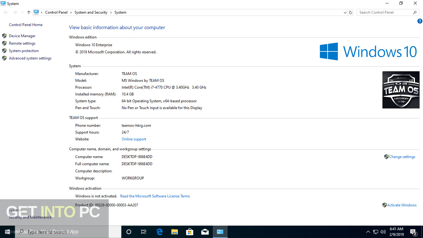 Windows 10 AIO 19H1 32 64 Bit Feb 2019 Screenshot 9-GetintoPC.com