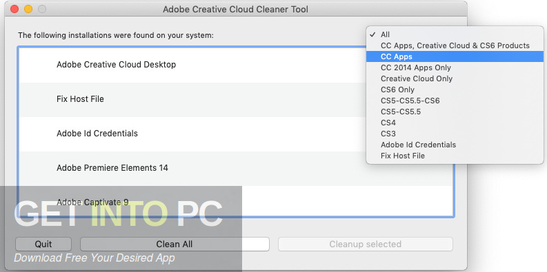 Adobe CC Cleaner Tool Offline Installer Download-GetintoPC.com
