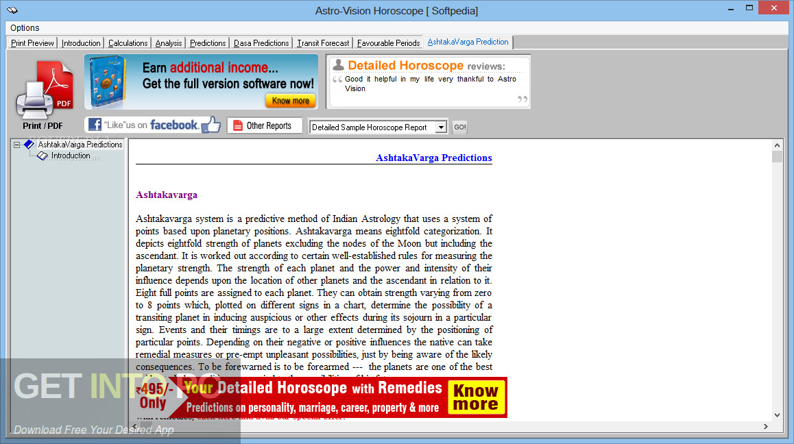 AstroVision LifeSign Mini Horoscope Software Offline Installer Download-GetintoPC.com