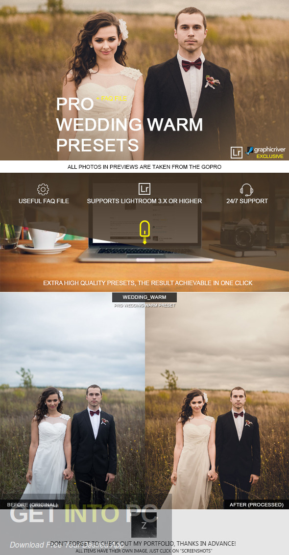 GraphicRiver - Wedding Premium Lightroom Presets Direct Link Download-GetintoPC.com