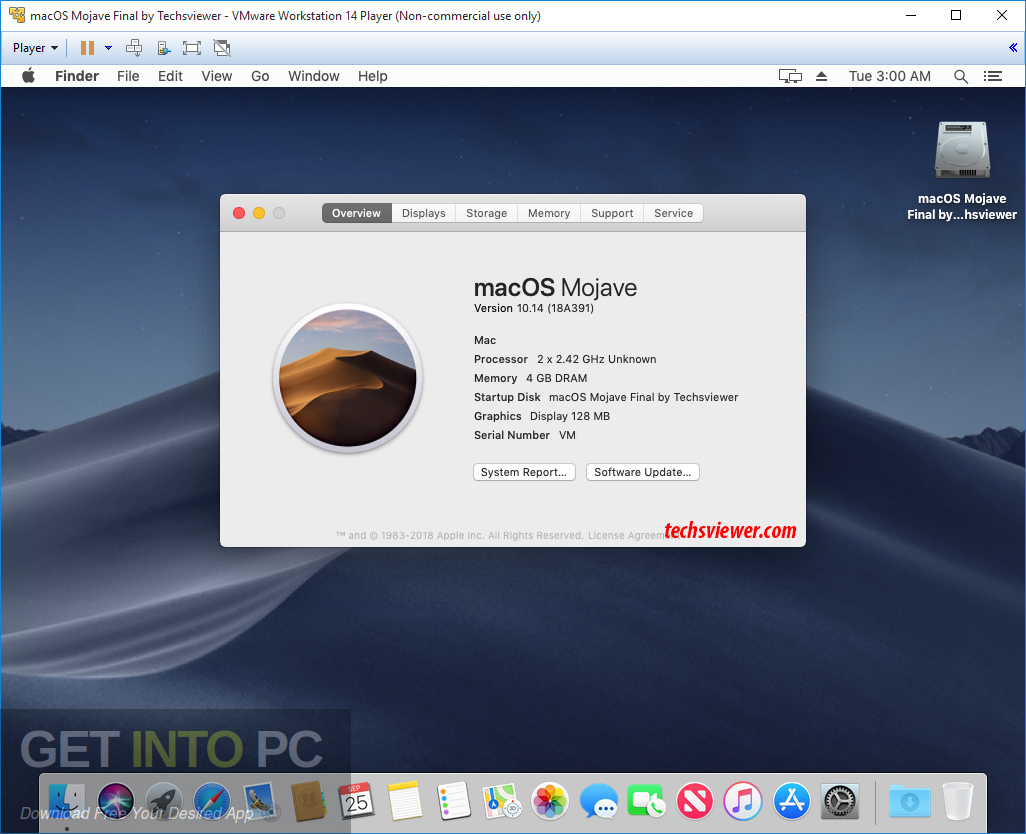 Mac OS Mojave 10.14.1 VMWare Image Offline Installer Download-GetintoPC.com