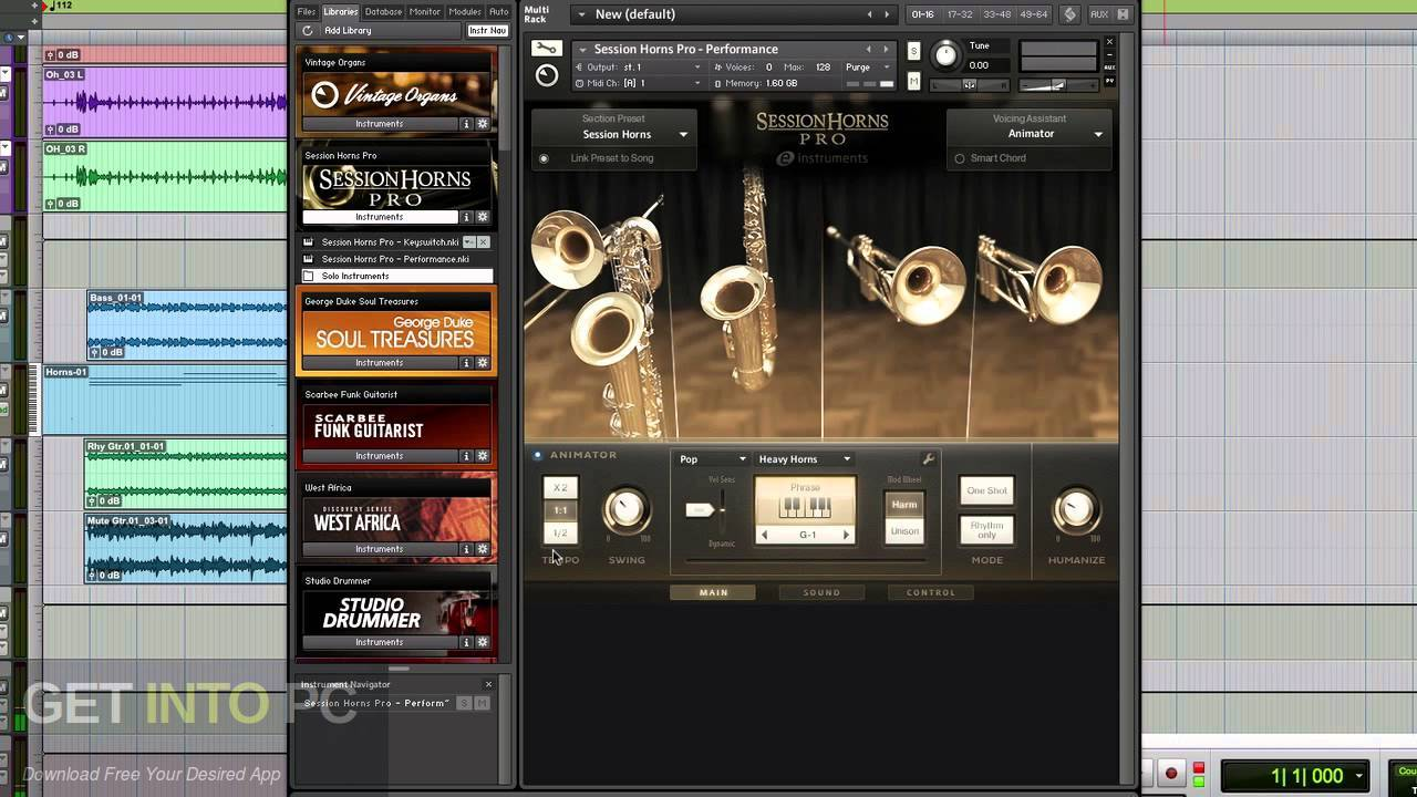 Native instruments Session Horns KONTAKT Library Direct Link Download-GetintoPC.com
