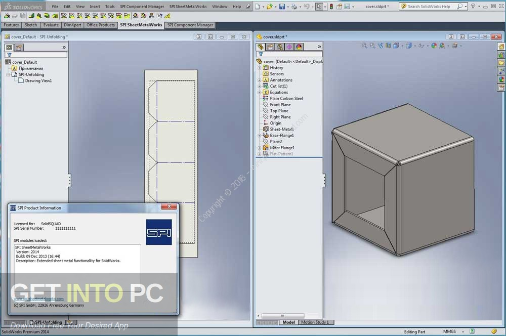 SPI SheetMetalWorks 2018 for SolidWorks Latest Version Download-GetintoPC.com
