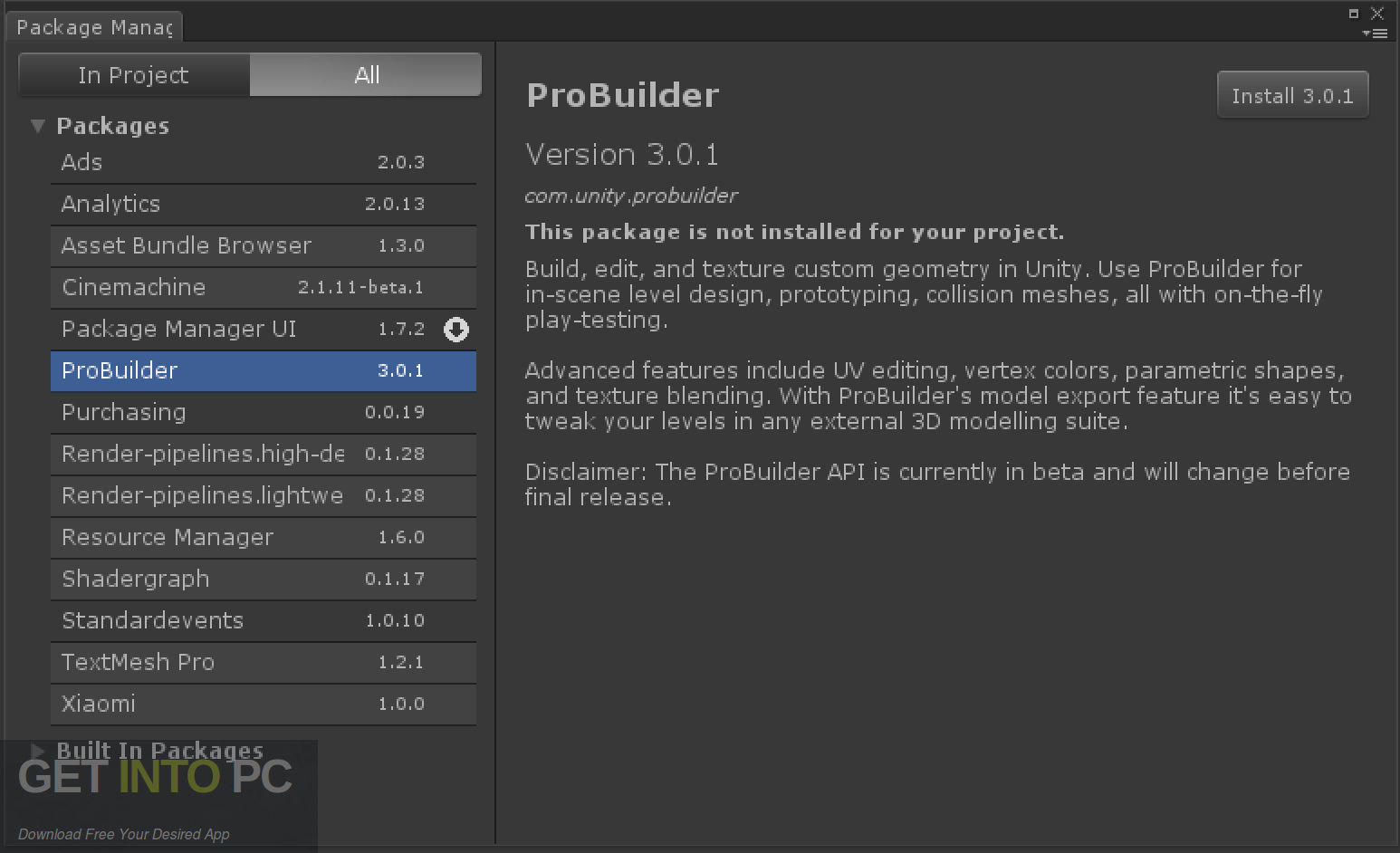 Unity Pro 2018 for Mac Direct Link Download-GetintoPC.com