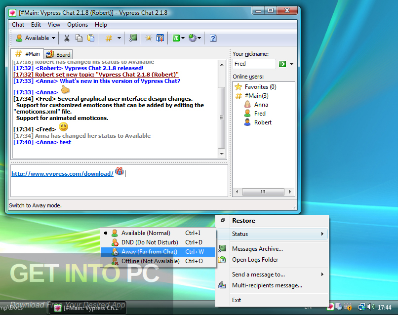 Vypress LAN Chat Offline Installer Download-GetintoPC.com