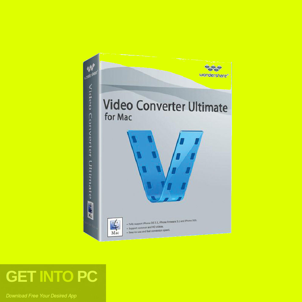 Wondershare Video Converter Ultimate for Mac Free Download-GetintoPC.com