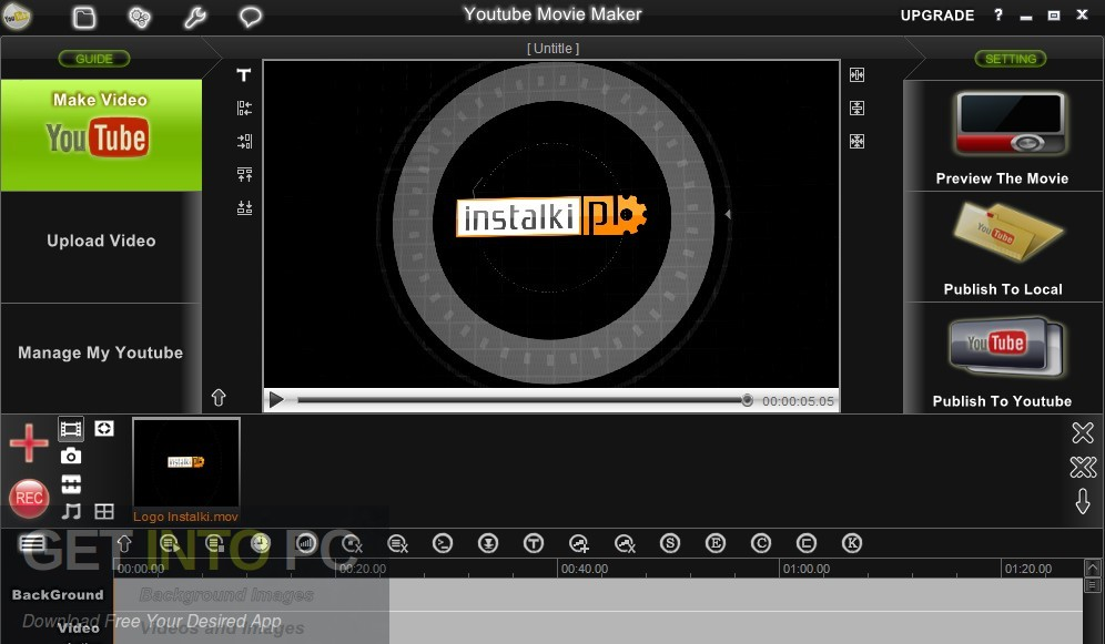 YouTube Movie Maker Platium Offline Installer Download-GetintoPC.com