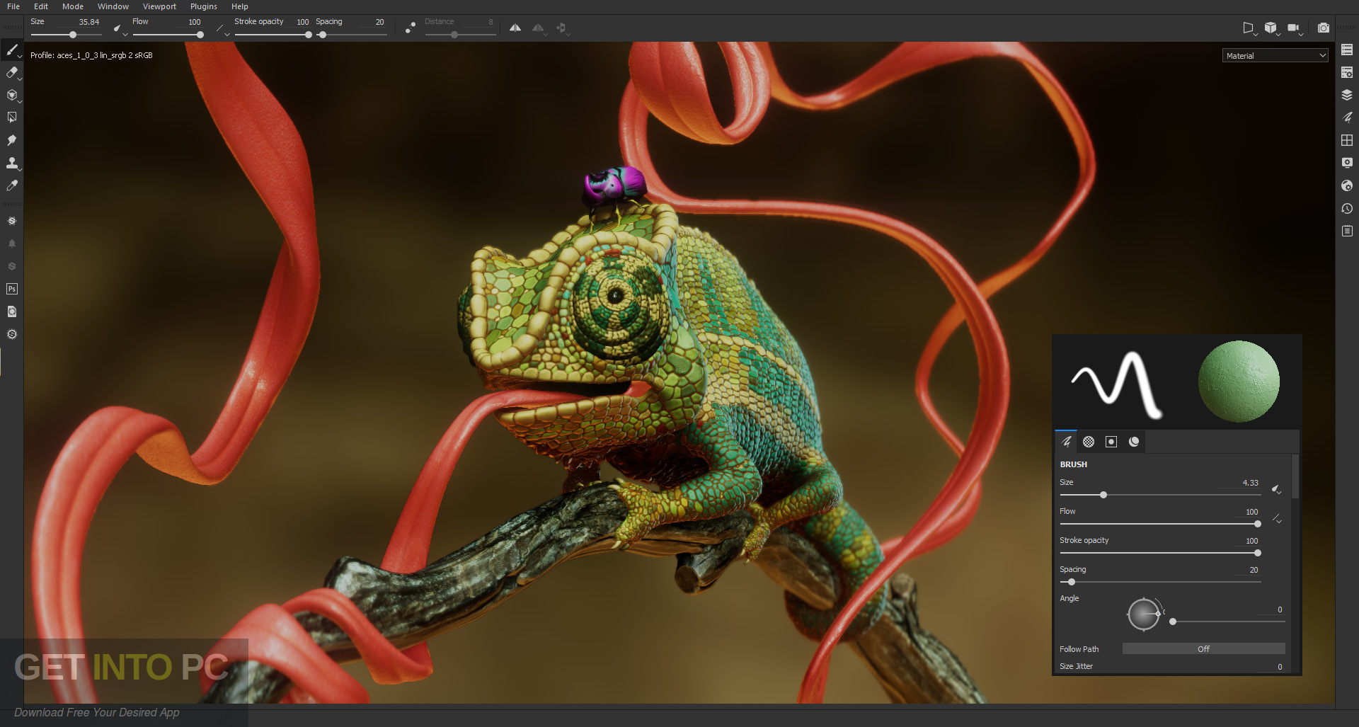 Allegorithmic Substance Painter 2019 Offline Installer Download-GetintoPC.com