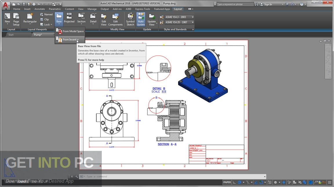 Autodesk Autocad Mechanical 2020 Latest Version Download-GetintoPC.com