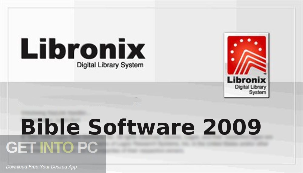 Libronix Bible Software 2009 Free Download-GetintoPC.com