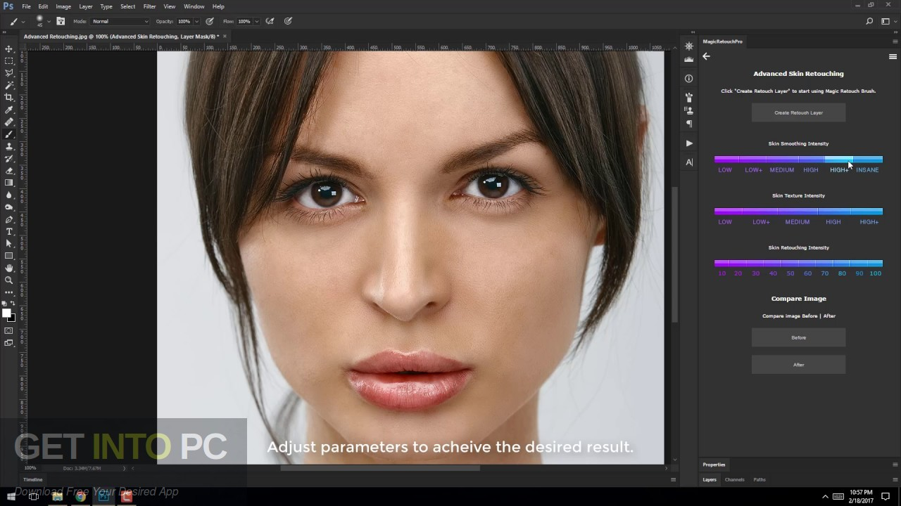 Magic Retouch Pro Photoshop Plugin Latest Version Download-GetintoPC.com