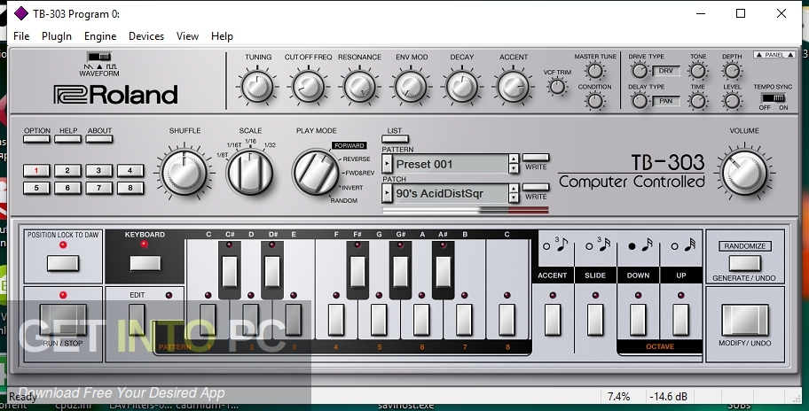Roland TB-303 VST Latest Version Download-GetintoPC.com