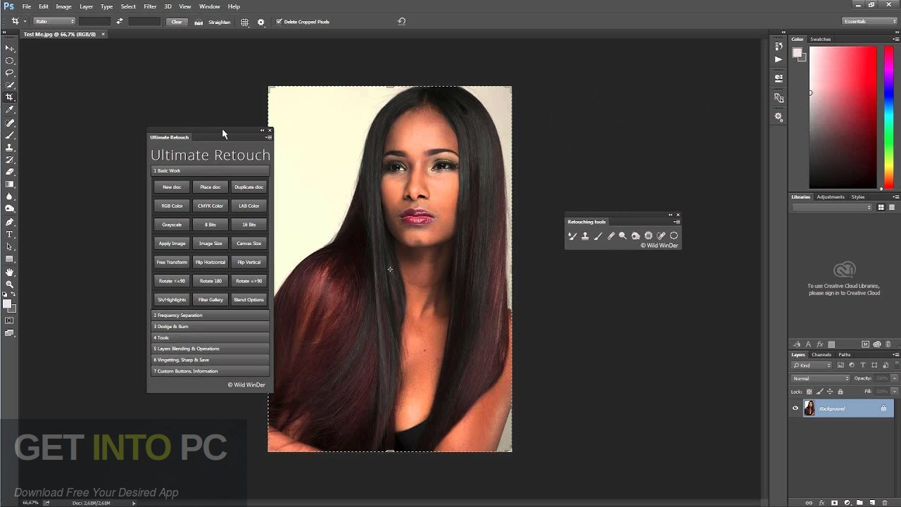 Ultimate Retouch Panel Photoshop Plugin Latest Version Download-GetintoPC.com
