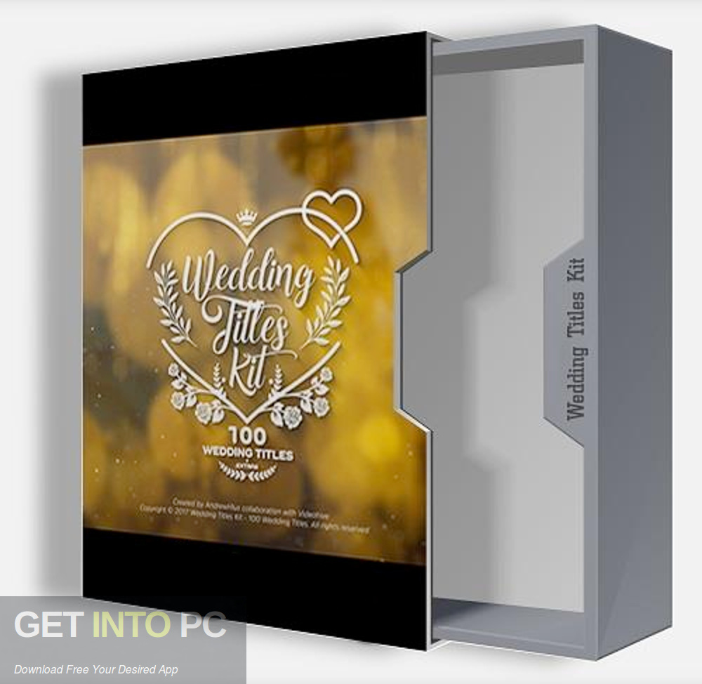 VideoHive Wedding Titles Kit 100 Titles for After Effects Free Download-GetintoPC.com