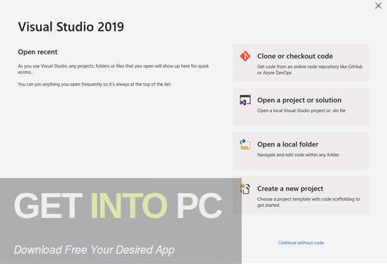 Visual Studio 2019 Offline Installer Download-GetintoPC.com