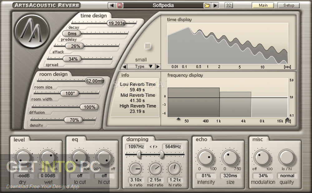 ArtsAcoustic - Reverb VST Latest Version Download-GetintoPC.com