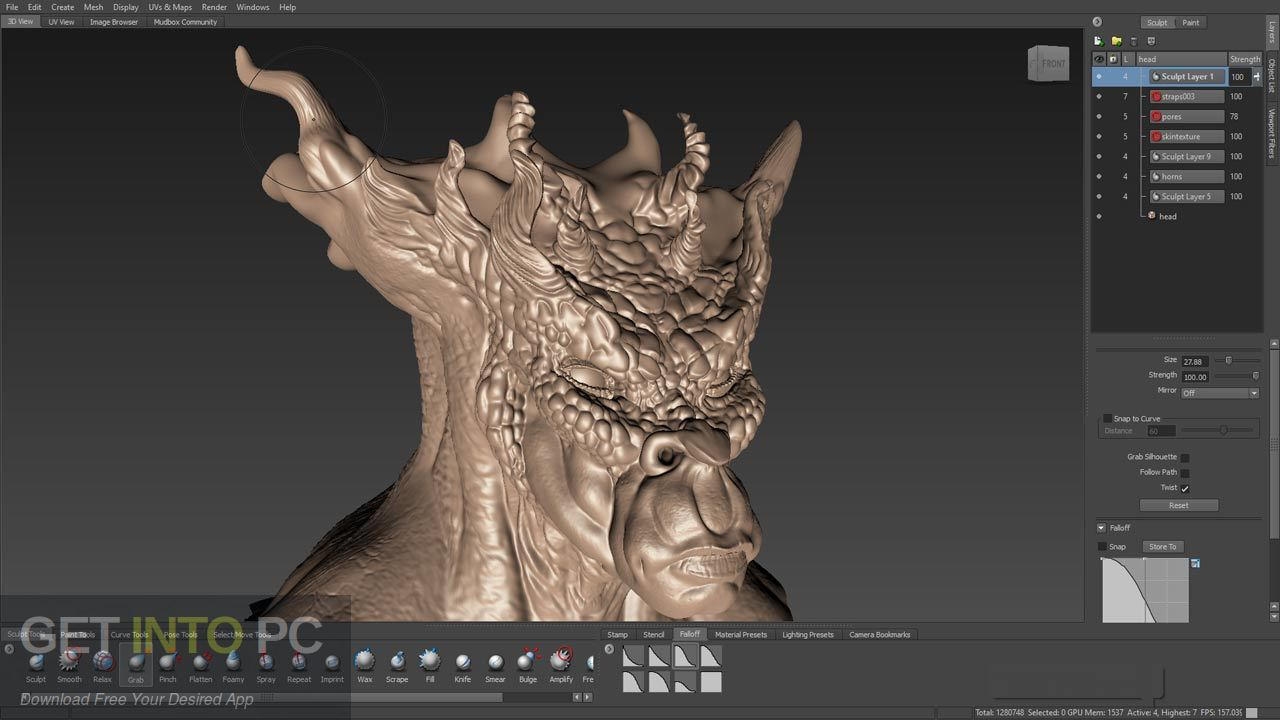 Autodesk Mudbox 2019 Direct Link Download-GetintoPC.com