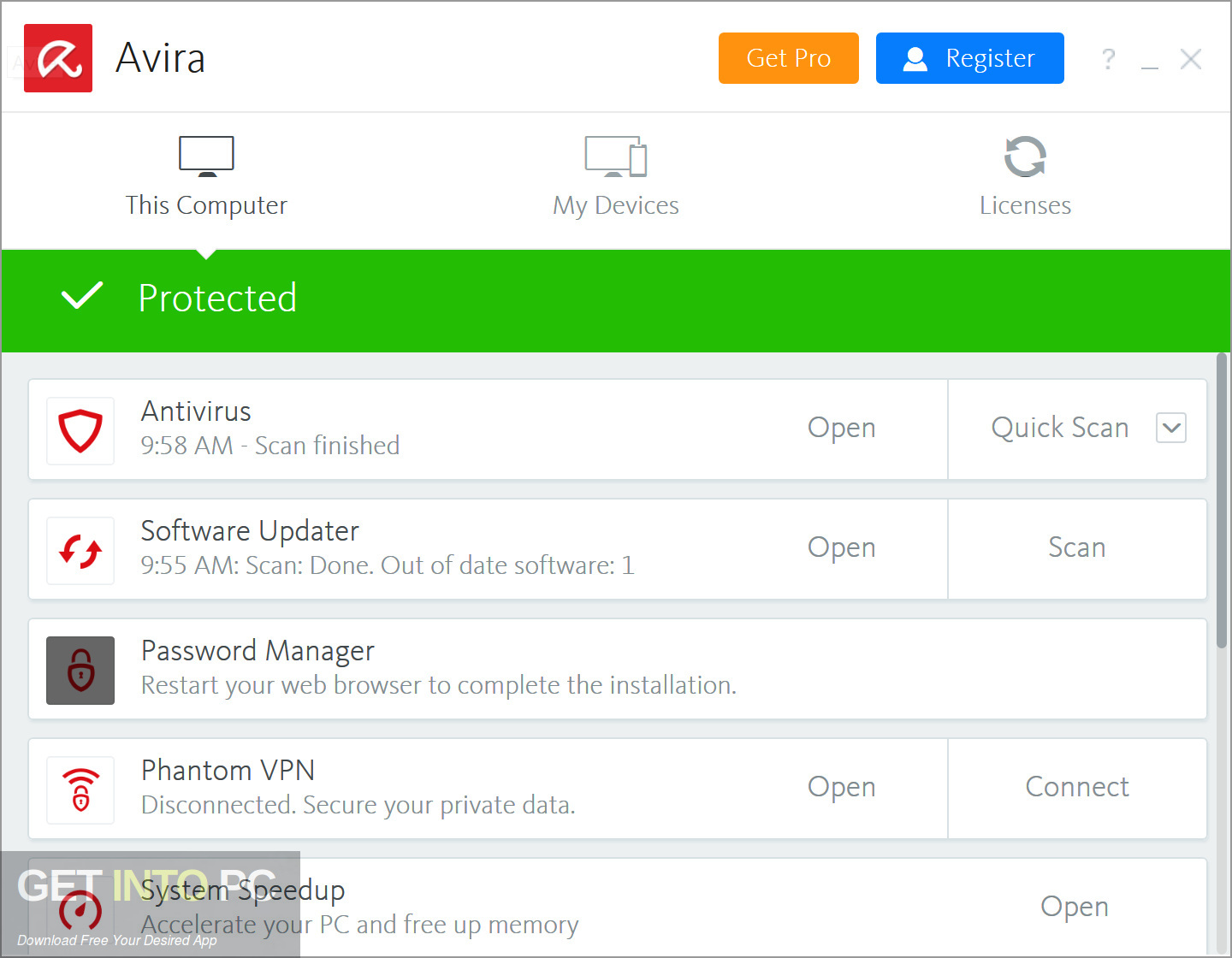 Avira Antivirus Pro 2019 Direct Link Download-GetintoPC.com