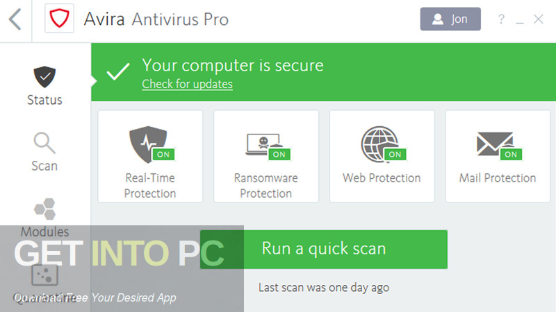 Avira Antivirus Pro 2019 Offline Installer Download-GetintoPC.com