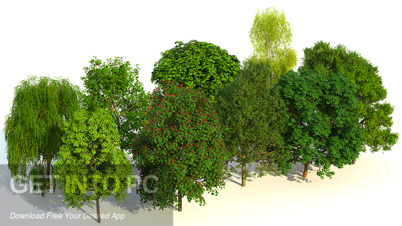Laubwerk Plants Kit 1 & 2 & 3 for Cinema 4D 3dsMax Latest Version Download-GetintoPC.com