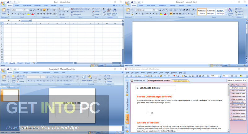 Office 2007 SP3 Enterprise + Visio Pro + Project Pro 2019 Edition Latest Version Download-GetintoPC.com