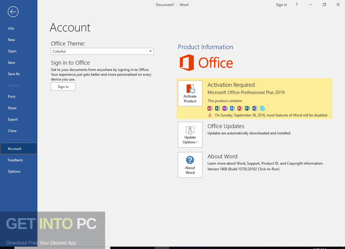 Office Professional Plus 2019 With May 2019 Updates Latest Version Download-GetintoPC.com
