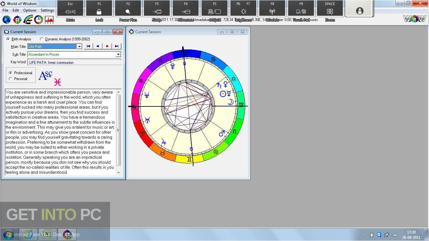 WOW (World of Wisdom) Astrology Software Horoscope Interpreter Direct Link Download-GetintoPC.com