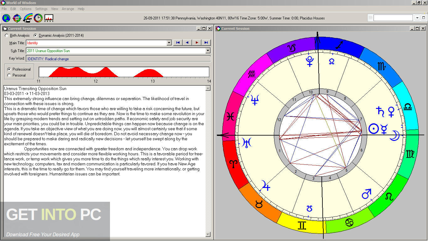 WOW (World of Wisdom) Astrology Software Horoscope Interpreter Latest Version Download-GetintoPC.com