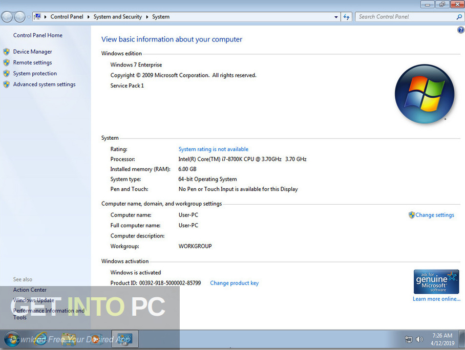 Windows 7 AIl in One 32 64 Bit ISO May 2019 Offline Installer Download-GetintoPC.com
