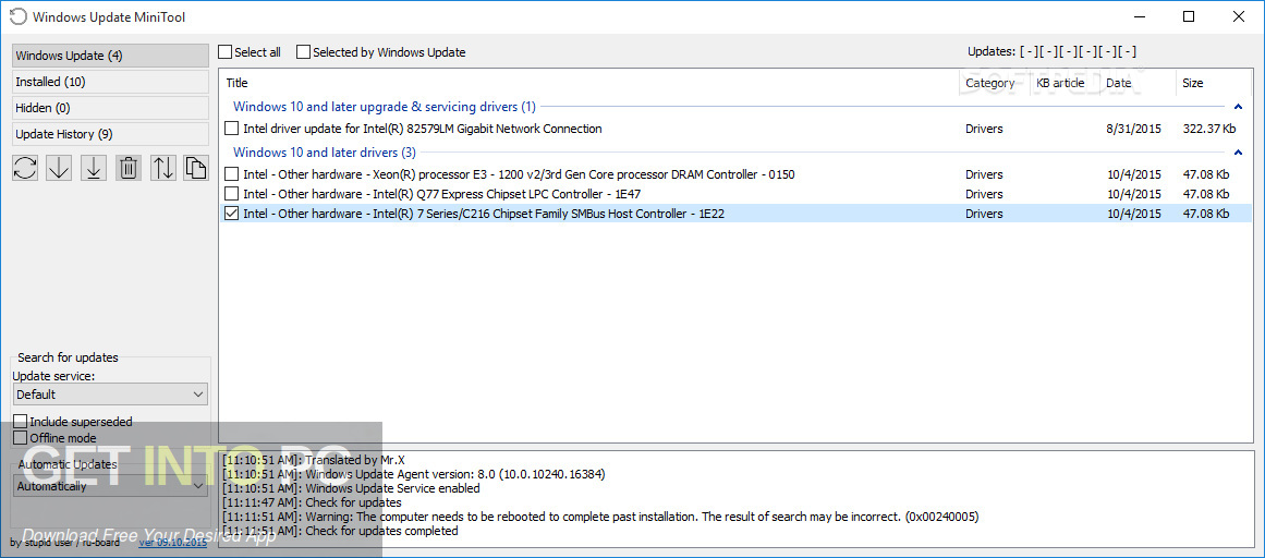 Windows Update MiniTool Offline Installer Download-GetintoPC.com