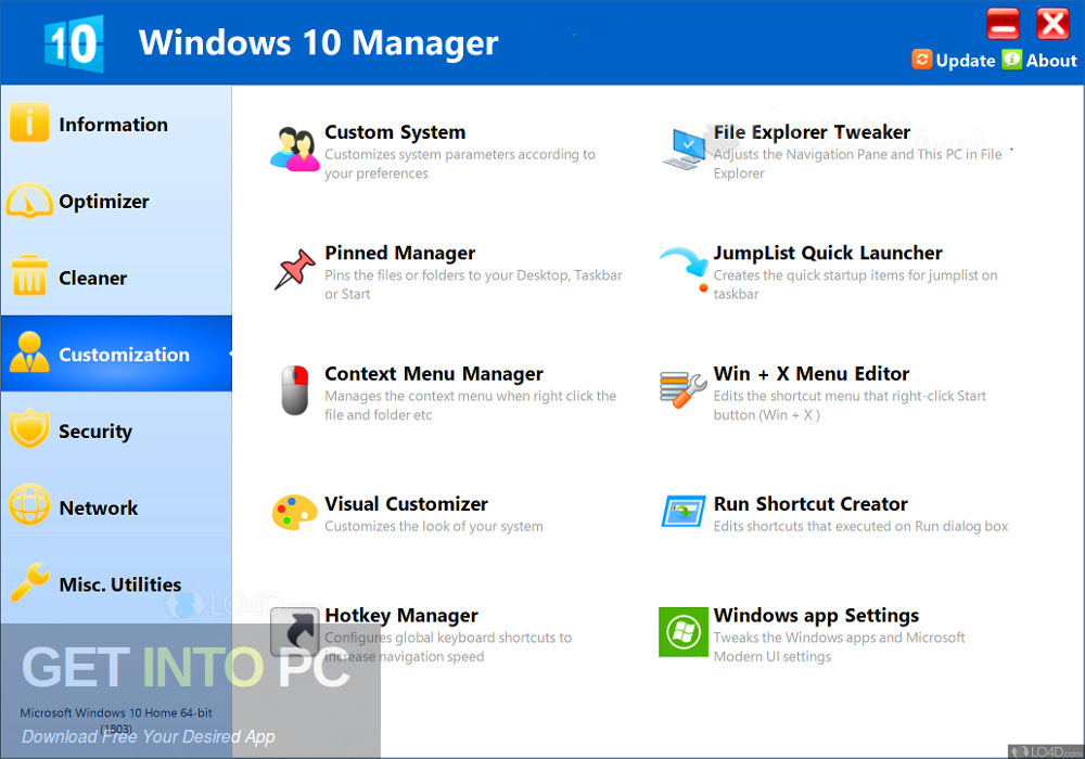Yamicsoft Windows 10 Manager 2019 Offline Installer Download-GetintoPC.com