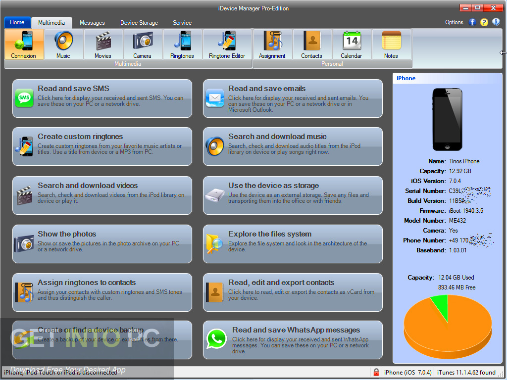 iDevice Manager Pro Edition 2019 Latest Version Download-GetintoPC.com