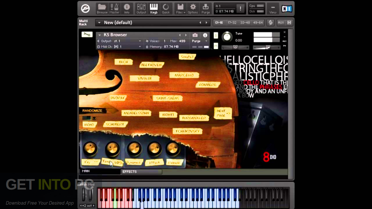 8Dio - Solo Cello Designer (KONTAKT) Latest Version Download-GetintoPC.com