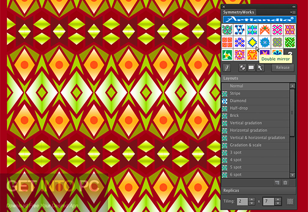 Artlandia SymmetryWorks (plugin for Adobe Illustrator) Latest Version Download-GetintoPC.com