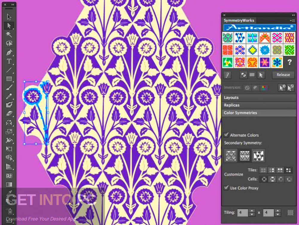 Artlandia SymmetryWorks (plugin for Adobe Illustrator) Offline Installer Download-GetintoPC.com