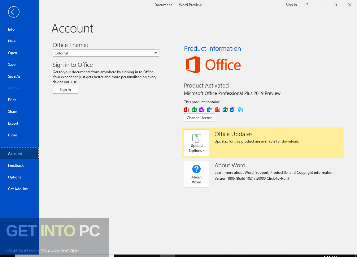 Office 2013 Professional Plus June 2019 Offline Installer Download-GetintoPC.com