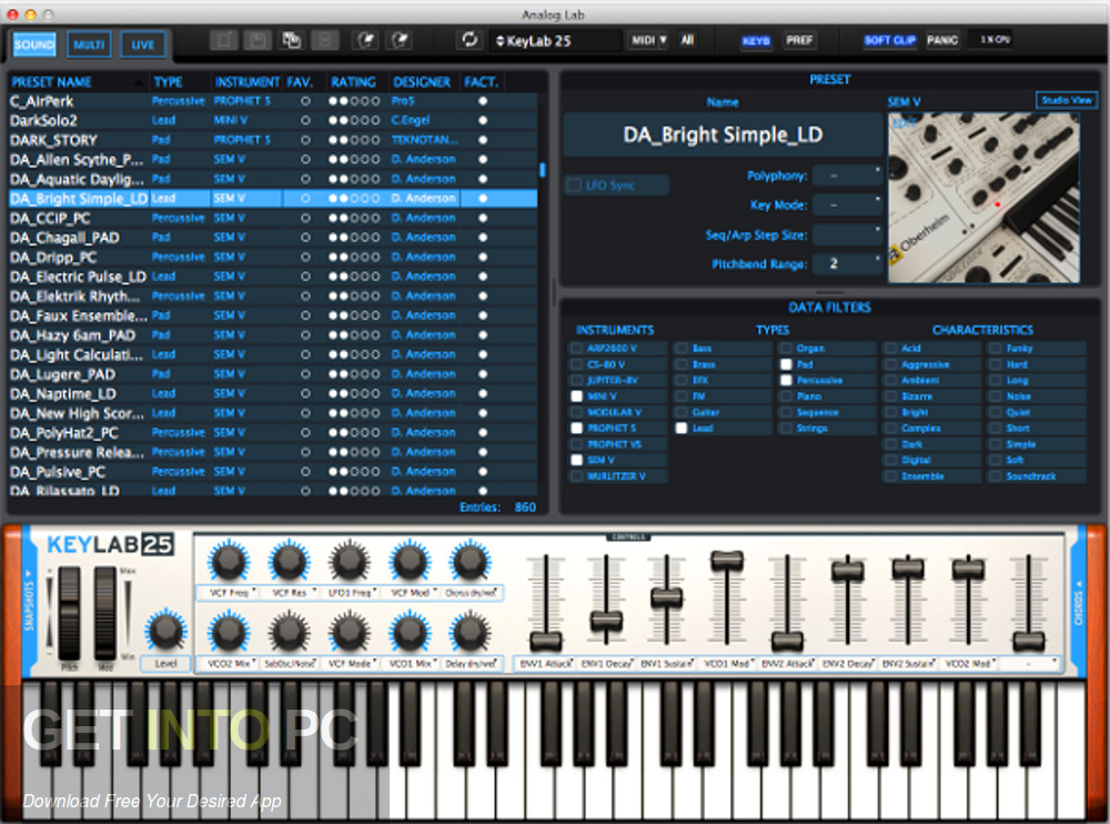 Arturia - Analog Lab VST Direct Link Download-GetintoPC.com