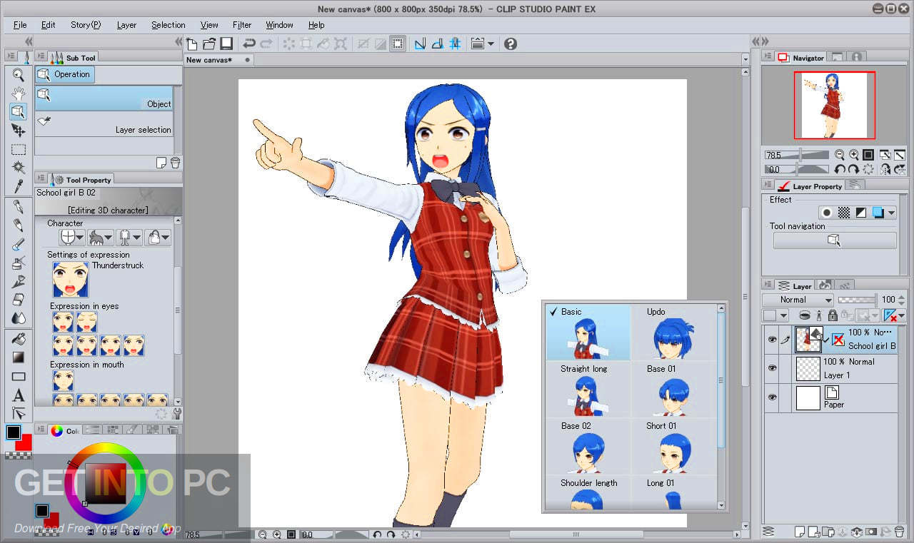 Clip Studio Paint EX 2019 v1.9.1 + Materials Direct Link Download-GetintoPC.com