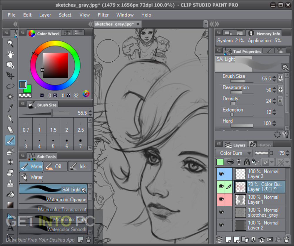 Clip Studio Paint EX v1.6.3 - 32 bit 64 bit + Materials Direct Link Download-GetintoPC.com