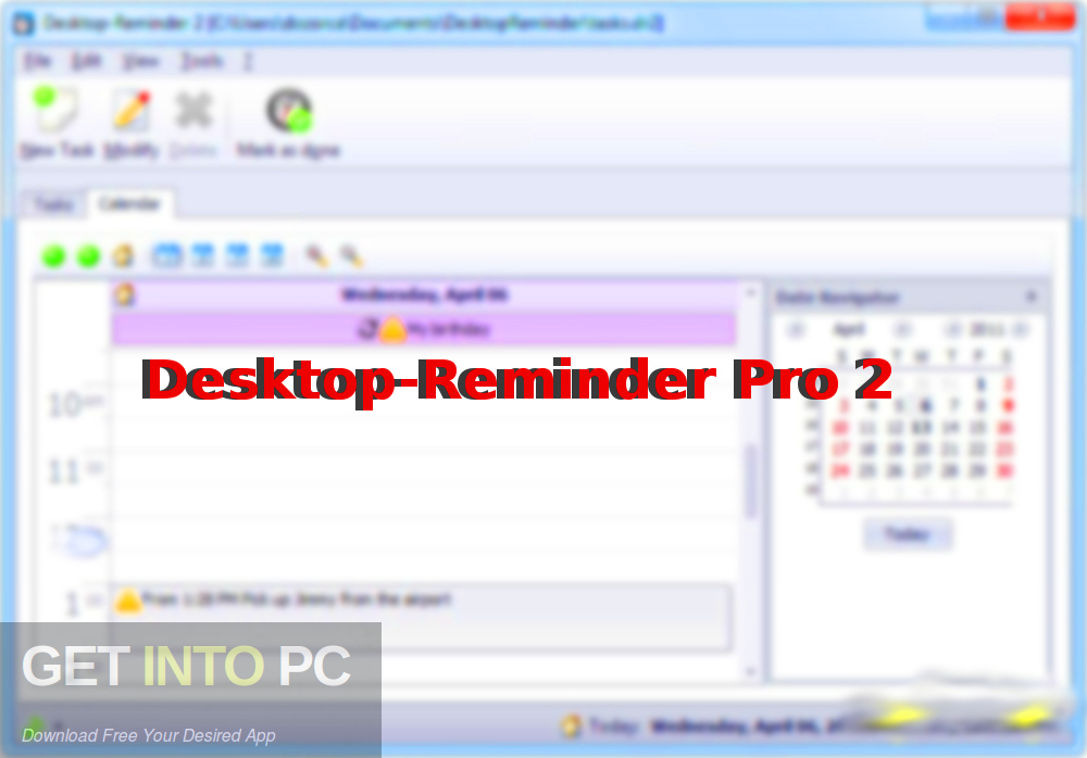 Desktop-Reminder Pro 2 Free Download-GetintoPC.com