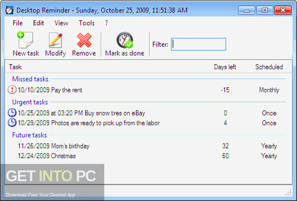 Desktop-Reminder Pro 2 Latest Version Download-GetintoPC.com
