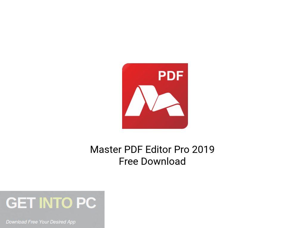 Master PDF Editor Pro 2019 Free Download